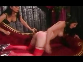 Spanked In Red Stockings
