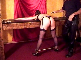 spanked well