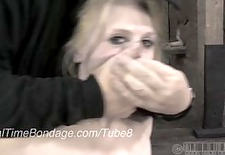 blonde ballerina caned in bondage