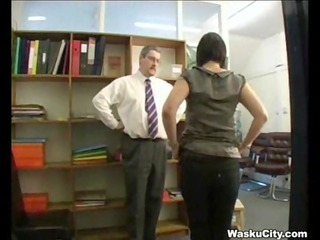 british girl (thieving girl gets spanked by boss)
