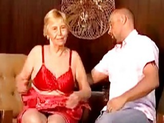 Gmilf granny spanked gives head and rides pole