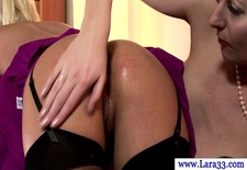 classy british milf matures lesbo spank and finger fun