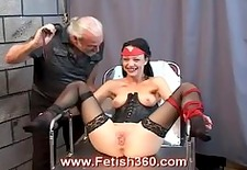 tawny gets her pussy whipped and clamped