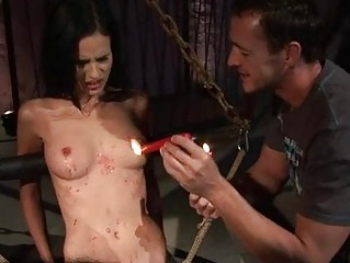 Teen getting painfully punished