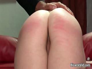 Nasty schoolgirl babe gets spanked hard part6