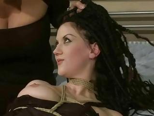 Classy mistress punishing sexy slavegirl