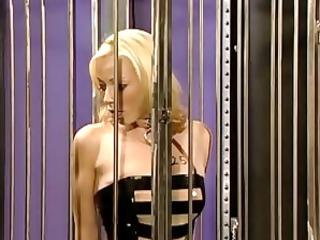 female prisoner holds nothing back to her interogator