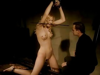 Sexy blonde getting painfully punished
