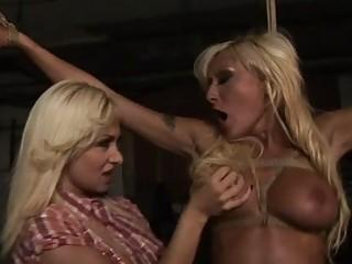 Hot blonde getting punished
