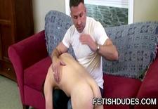 tommy coxx &; matt sizemore - daddy spanking a twink
