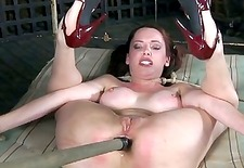 Chick gets her smooth ass whipped during torture