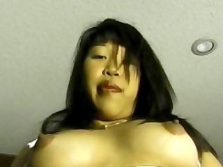 horny asian slut masturbates her sweet pink pussy