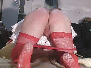 Sharixdress using her spanking machine