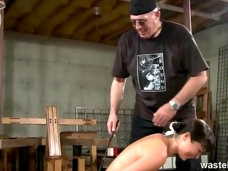her ass is left red raw after master spanking