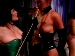 Slave girls kissing getting spanked with stick whipped by mi