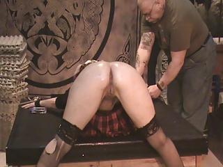 Naughty schoolgirl Antonia gets caned!
