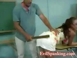 Pretty sexy schoolgirl punished