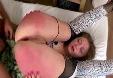 slutty babe getting her spanked ass nailed