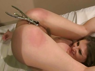 Sexy girl getting painfully punished