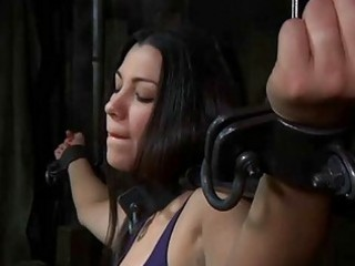 Lusty caning for tough chick