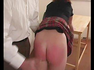 Naughty Schoolgirl Spanked