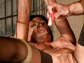 Brunette getting painfully punished