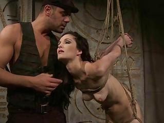 Gorgeous slavegirl getting punished