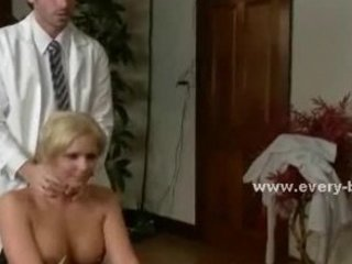 Blonde delicious slut with huge boobs and round ass punished in t