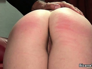 Nasty schoolgirl babe gets spanked hard