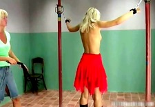 cute blonde honey gets bound and whipped