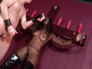 Black bitch monique punished by his white master