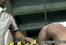 black dude blaine everett getting his ass spank