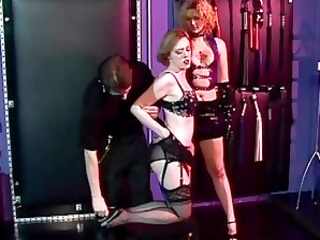 dom and femdom tie down woman and femdom sits on her face