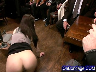 slutty young brunette gets whipped