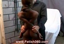 Naughty ebony girl gets punished