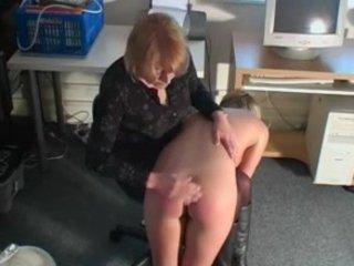 Sexy Blonde British Girl Gets Spanked While Masturbating